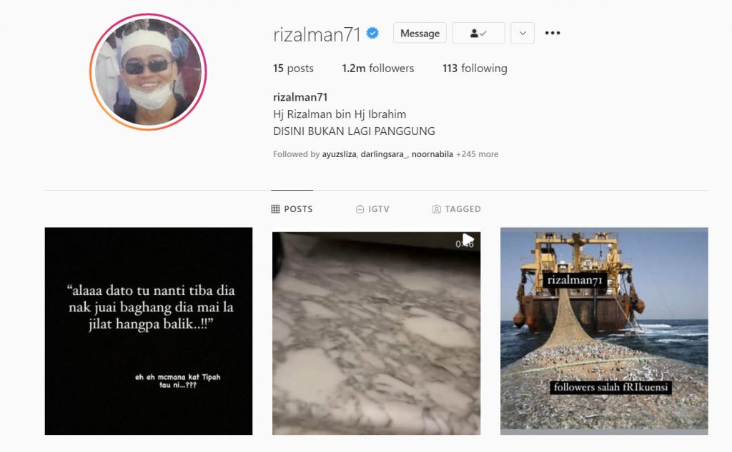 instagram rizalman