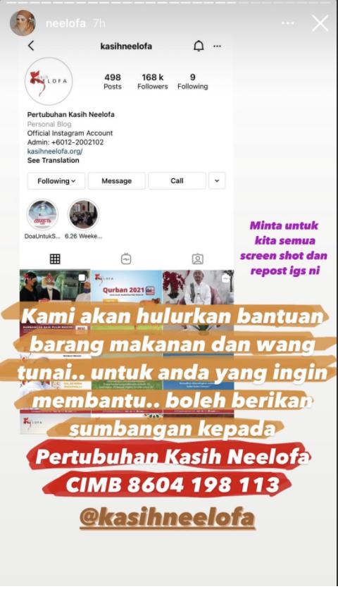 IG Story Neelofa