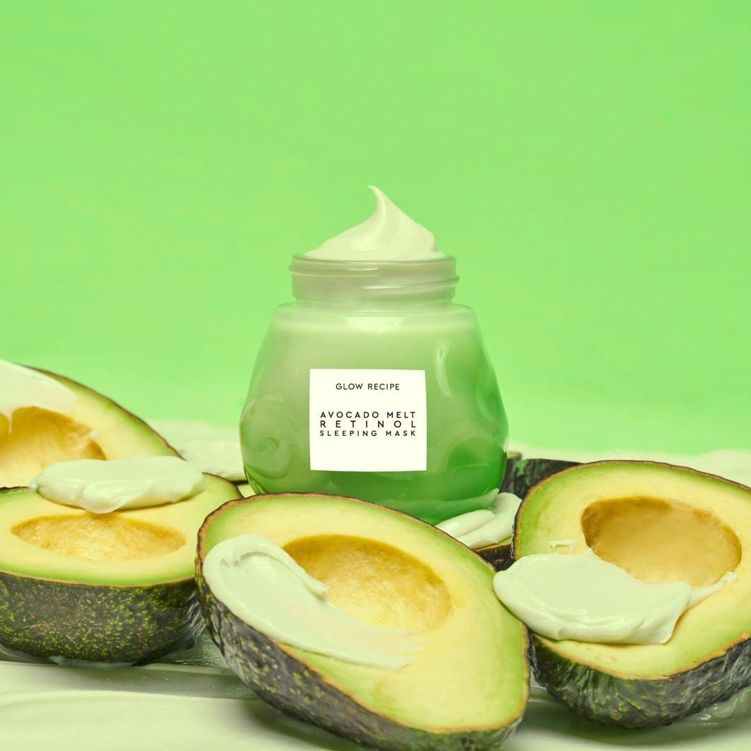 glow recipe avocado melt retinol sleeping mask favful