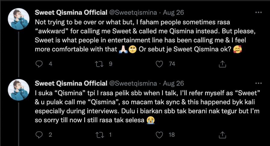 Twitter Sweet Qismina