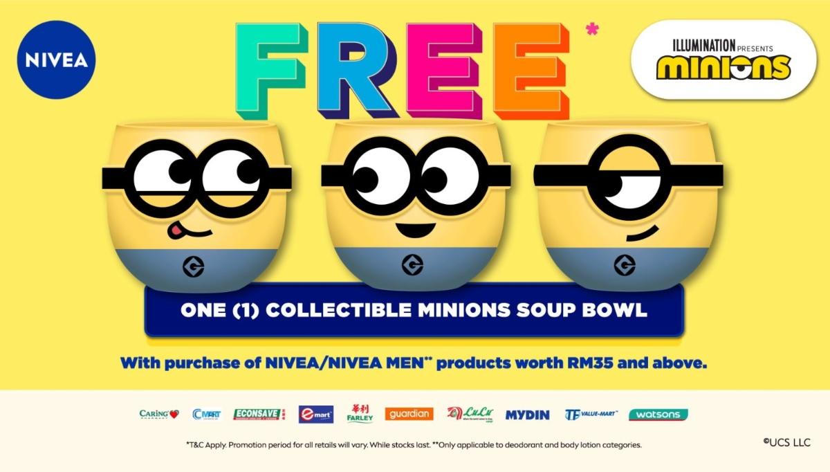 Free Minions Soup Bowl Nivea Promotion