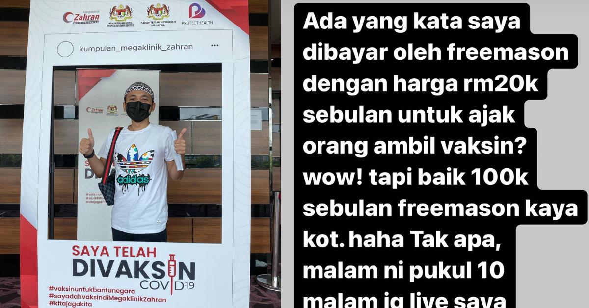 PU Amin dituduh dapat bayaran RM20K dari 'Freemason', ini puncanya...