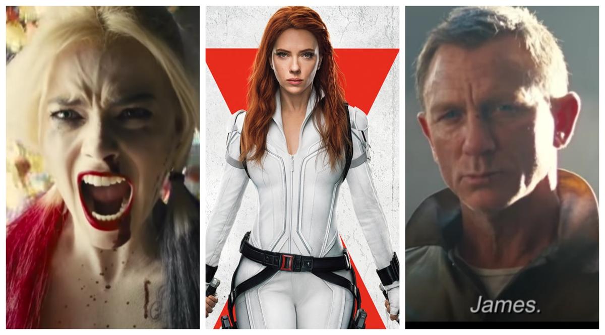 Suicide Squad, Black Widow, James Bond poster