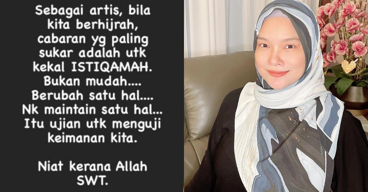 Pendapat Nora Ariffin artis istiqamah